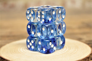 Chessex - Set of 12 D6 Dice Block - Nebula Dark Blue From Fandomonium