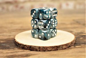 Chessex - Set of 12 D6 Dice Block - Lustrous Slate From Fandomonium