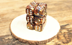 Chessex - Set of 12 D6 Dice Block - Lustrous Gold From Fandomonium