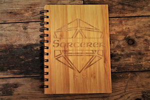 Personalised Engraved D20 Bamboo Notebook