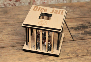 Wooden Dice Jail