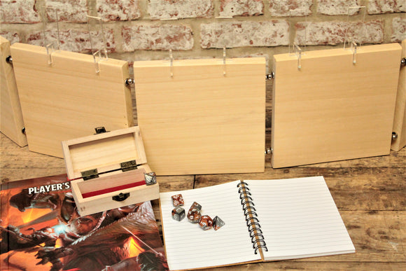 Magnetic DM Screen, Dungeon Master Screen, Wooden Table Top Gaming Screen