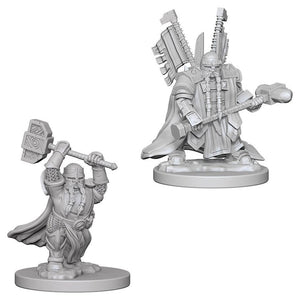 Nolzur's Marvelous Miniatures - Set of 2 Dwarf Male Paladin - D&D table top gaming miniatures from Fandomonium