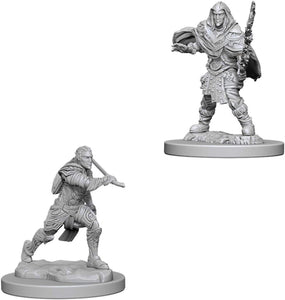Nolzur's Marvelous Miniatures - Set of 2 Elf Male Fighter - D&D table top gaming miniatures from Fandomonium
