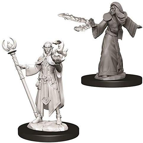Nolzur's Marvelous Miniatures - Set of 2 Elf Male Wizard - D&D table top gaming miniatures from Fandomonium