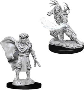 Nolzur's Marvelous Miniatures - Set of 2 Human Male Druid - D&D table top gaming miniatures from Fandomonium