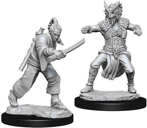 Nolzur's Marvelous Miniatures - Set of 2 Human Male Monk - D&D table top gaming miniatures from Fandomonium