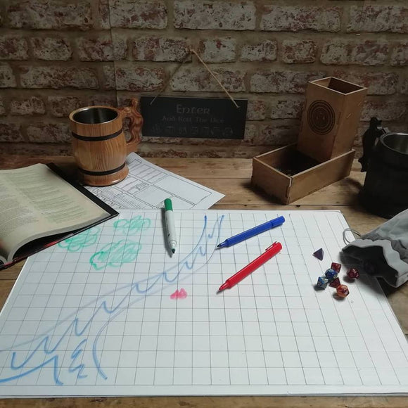 GameGrid clear perspex grid for rpg tabletop gaming, Dungeons and Dragons etc by Fandomonium