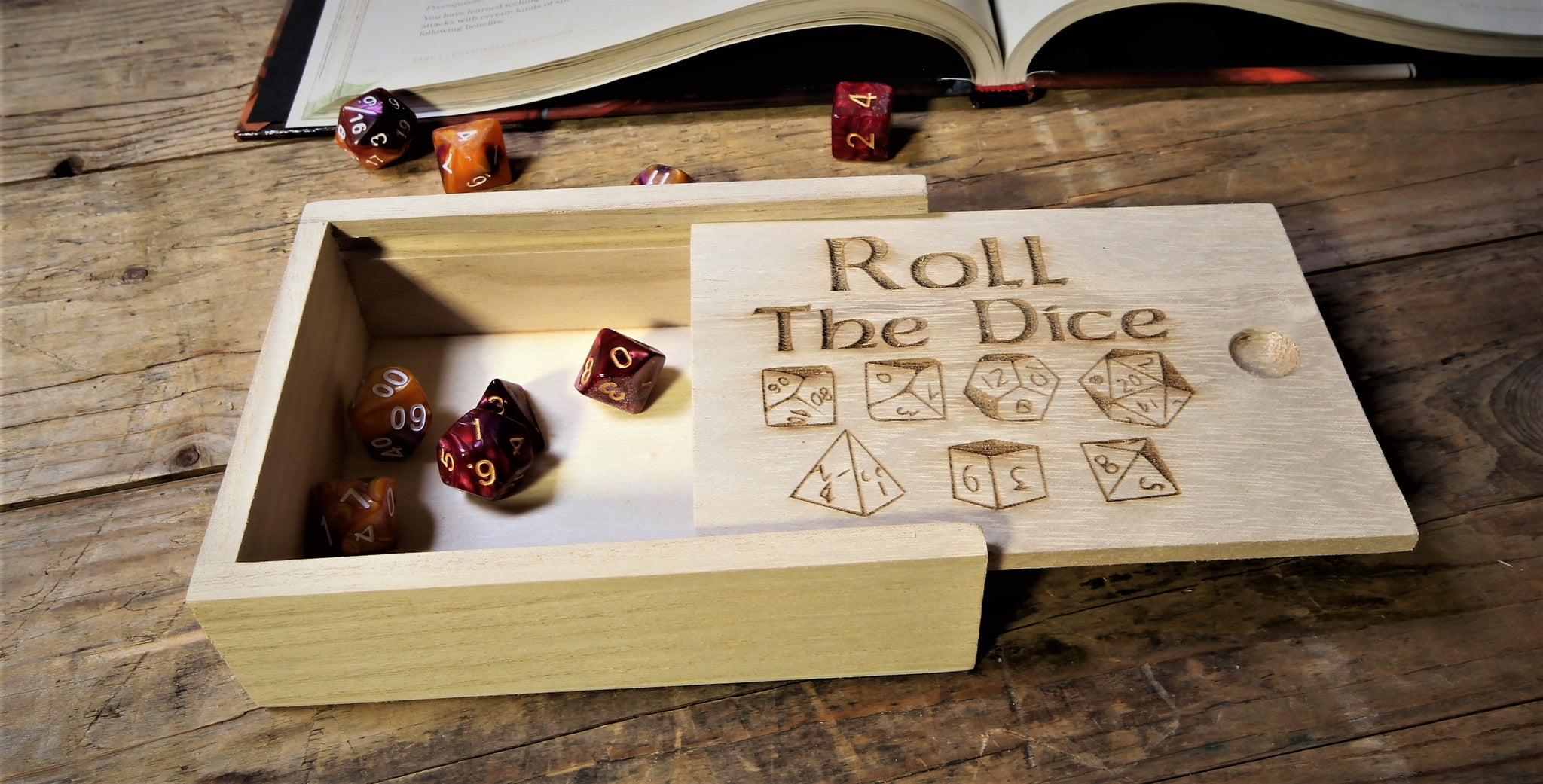 Dice Box - Engraved To Order - Free personalisation - Free Delivery –  Fandomonium