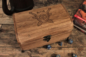 Engraved Treasure Chest Dice Box With Feet By Fandomonium