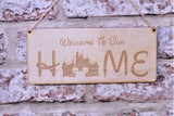 Welcome to our home princess castle sign