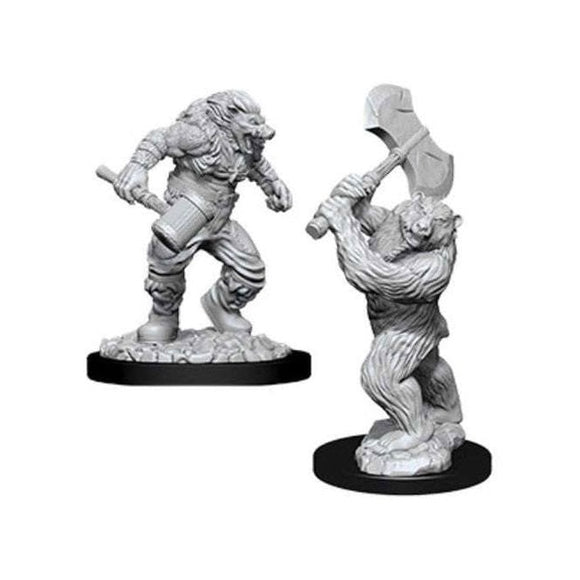 Nolzur's Marvelous Miniatures - Set of 2 Wereboar & Werebear - D&D table top gaming miniatures from Fandomonium