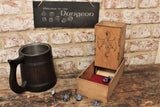 Dragon design hand made wooden dice tower / dice roller by Fandomonium