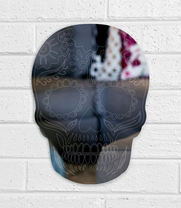 Candy Skull design acrylic mirror