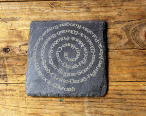 D&D 'Character Swirl' Engraved Slate Coaster