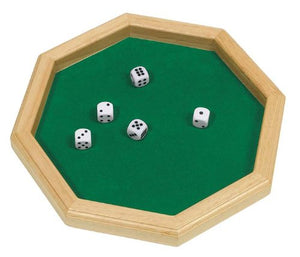 Hexagonal Wooden Dice Roll Tray from Fandomonium
