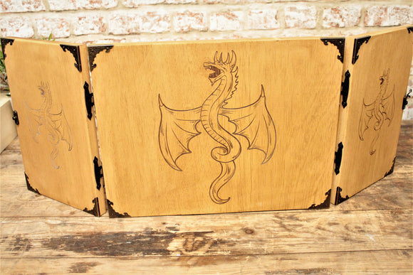 Wooden Dungeon Master Screen - Dragon