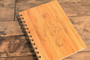 Dragon engraved bamboo notebook by Fandomonium