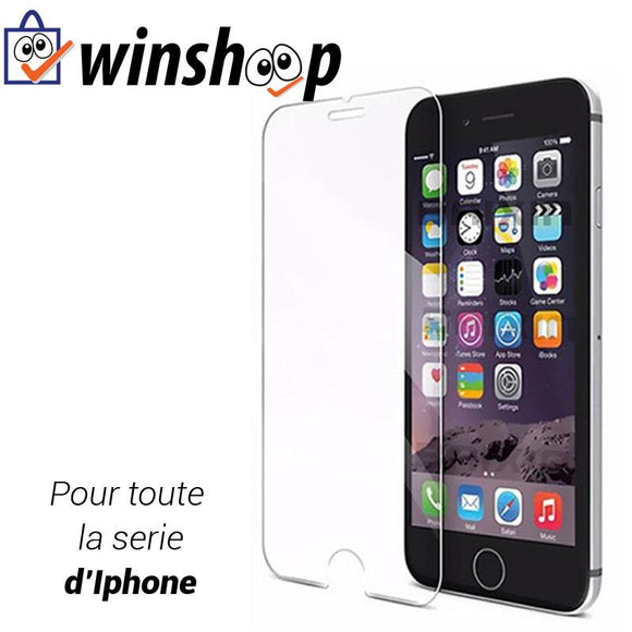Verre trempé de protection Iphone - Winshoop.com