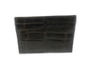 American Alligator Skin Card Case Brown