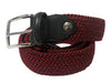 Cotton Stretch Belt Two-Tone Light Red/Black