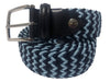 Cotton Stretch Belt Navy/Light Blue