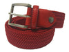 Cotton Stretch Belt Red