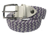 Cotton Stretch Belt Lavender/White