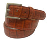 Calf Skin Crocodile Embossed Belt Brick