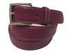 Calf Skin Pebble Belt Fuschia / White Stitch
