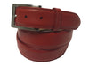 Calf Skin Pebble Belt Red Classic