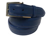 Calf Skin Pebble Belt Blue Classic