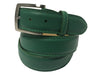 Calf Skin Pebble Belt Green Classic