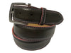 Calf Skin Pebble Belt Brown / Pink Stitch & Edge