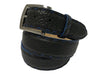 Bison Skin Belt Black / Blue Pick Stitch