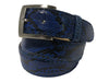 Python Skin Belt Blue/Black