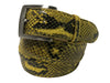 Python Skin Belt Yellow/Black