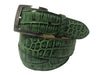 Alligator Skin Handpainted Belt Green/Black