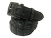 Caiman Skin Hornback Belt Dark Gray
