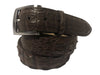 Caiman Skin Hornback Belt Brown