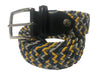 Cotton Stretch Belt Golden Blue Monochrome