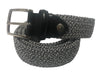 Cotton Stretch Belt Two-Tone Black/White