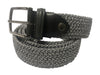 Cotton Stretch Belt Two-Tone Gray/White