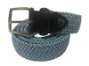 Cotton Stretch Belt Two-Tone Light Blue/White