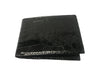 Crocodile Skin Billfold Wallet Black