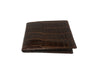 Crocodile Skin Billfold Wallet Cognac