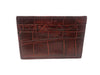 American Alligator Skin Card Case Red