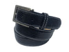 Lizard Skin Belt Navy / White Stitch