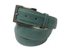 Lizard Skin Belt Tiffany Blue / White Stitch