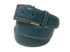Lizard Skin Belt Turquoise / White Stitch